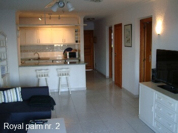 Royal Palm 2 Stue og køkken