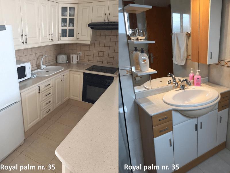 Royal Palm 35 Køkken og Badeværelse